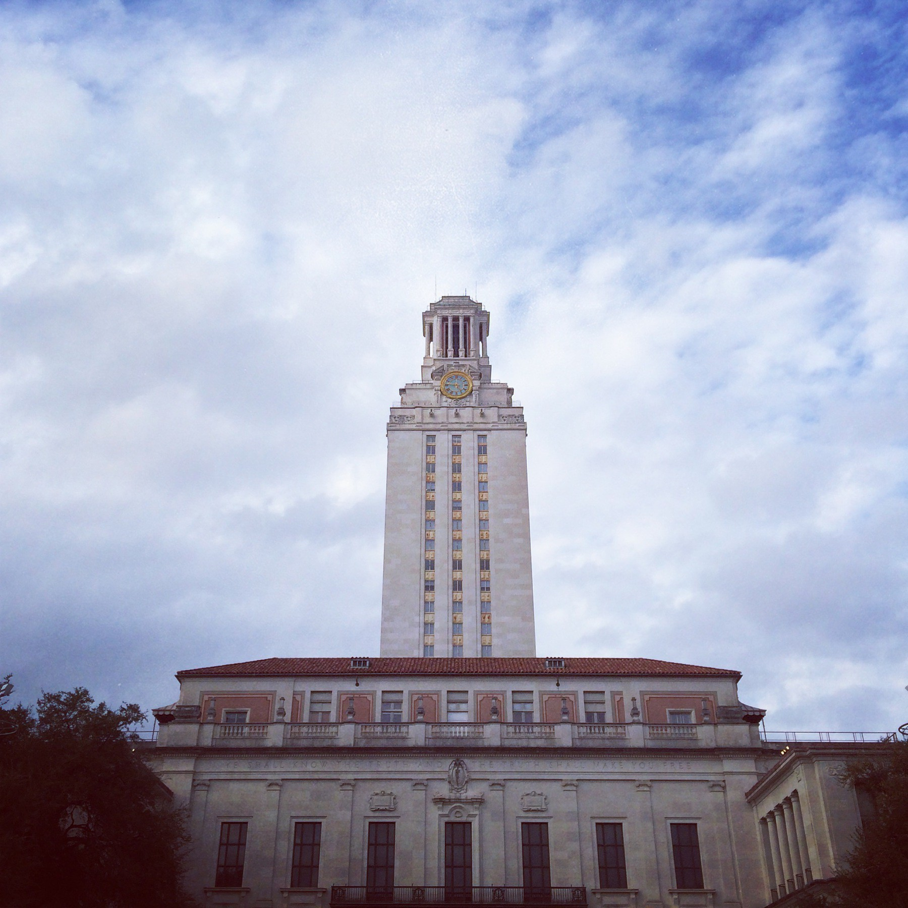 Walking around the UT Tower