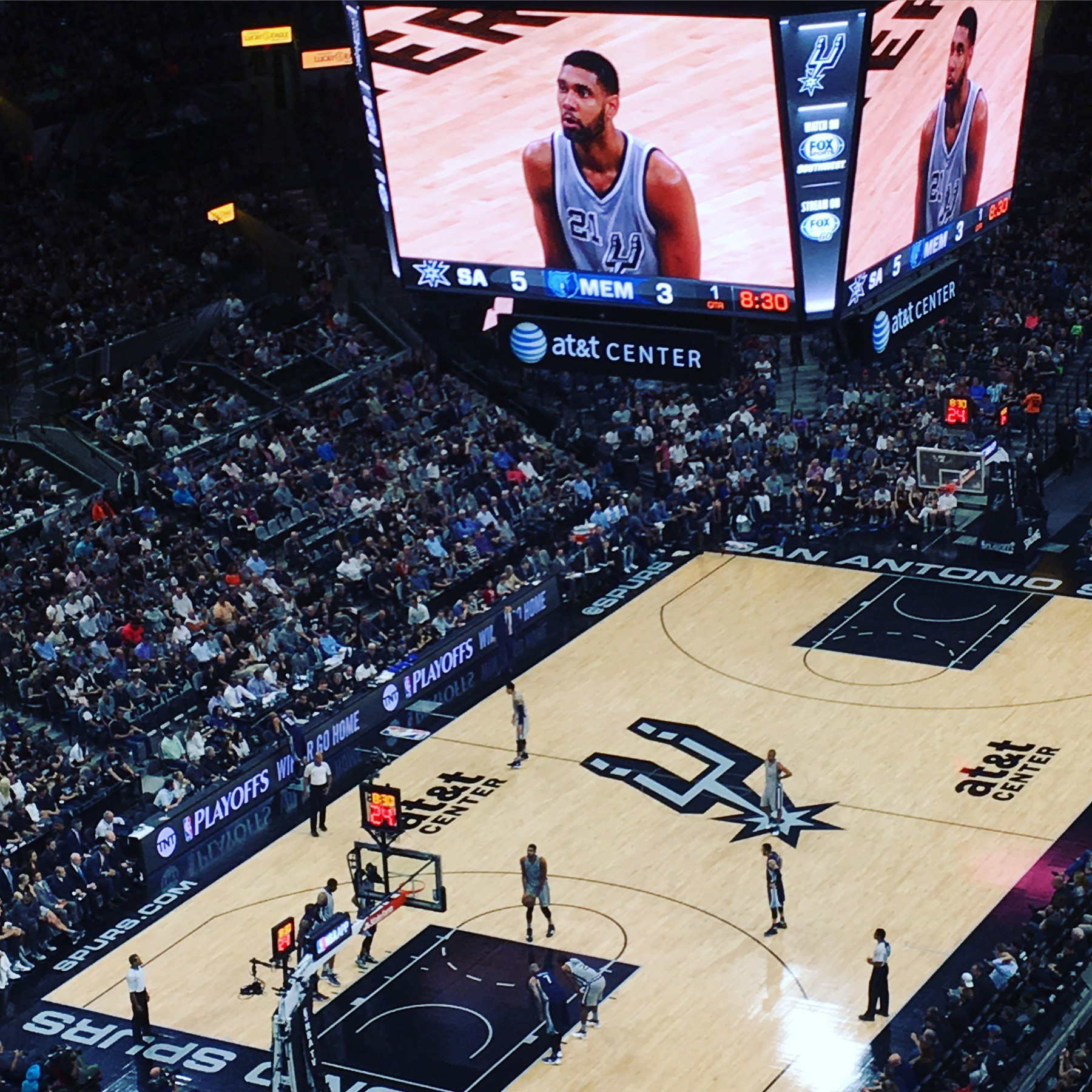 Spurs vs. Grizzlies, game 1