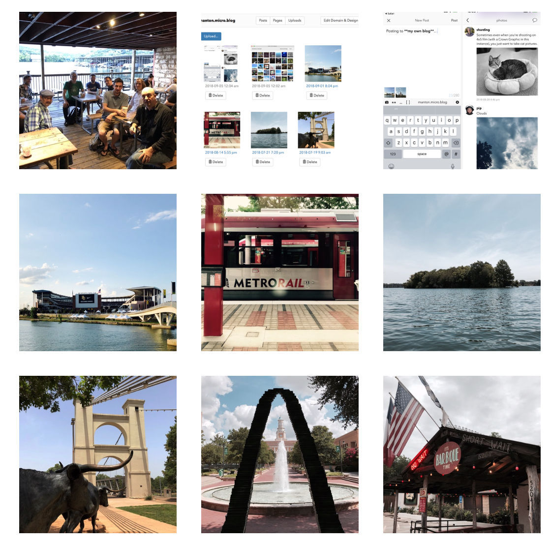 Screenshot of photos grid