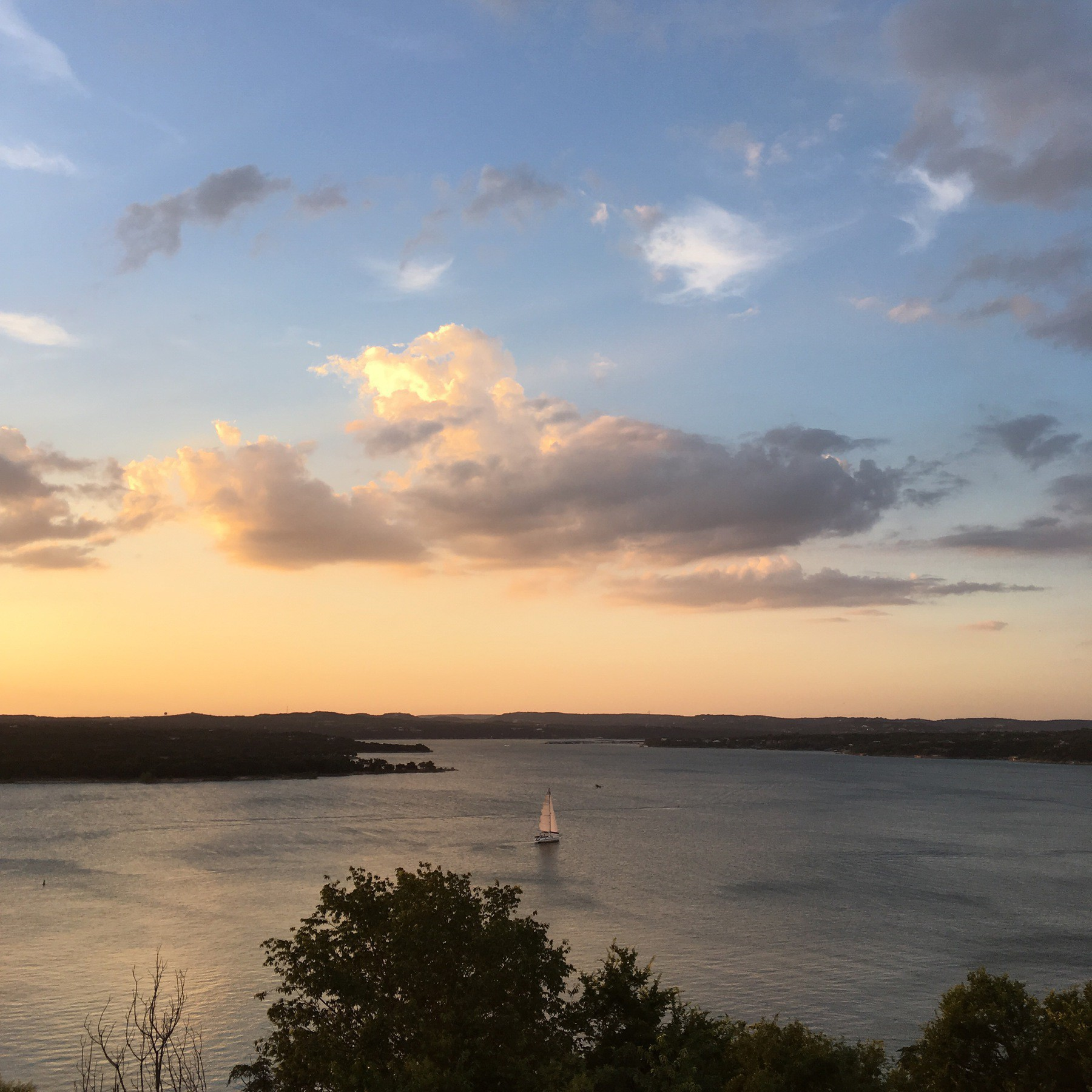 Lake Travis sailboat
